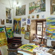 Künstler im Suq Tekieh