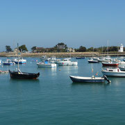Blick über den Hafen von Barfleur