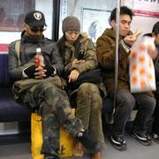 in der U-Bahn | wird meistens geschlafen
