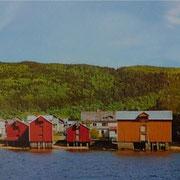 Mosjoen vom Fjord aus gesehen