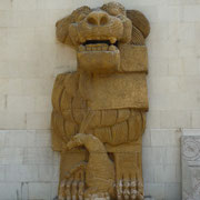 Löwenskulptur aus dem Tempel des Allat