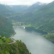 Blick auf den Geirangefjord
