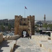 Treppe von oberhalb der Zitadelle