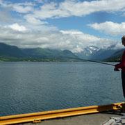 Angler am Fjord