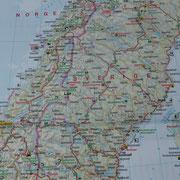 die Mitte Skandinaviens