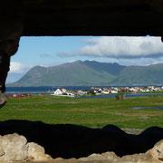 Blick aus der Ruine Richtung Eggum ... (ca. 18:15 Uhr)