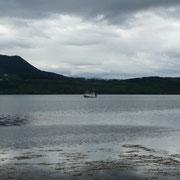 unterwegs zum anderen Fjordufer