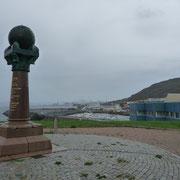 das Struve Denkmal in Hammerfest
