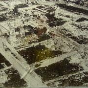Caen vom Krieg stark zerstört | die Kirchen wurden verschont