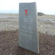 Denkmal für Wanderer von Sizilien bis zum Nordcap