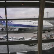 auf dem Flug nach Sapporo