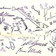 Vereinstempel mit Unterschriften