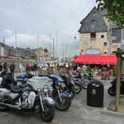Motorradtreffen in Honfleur