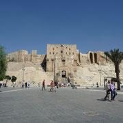 die Vorderansicht auf die Zitadelle