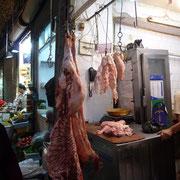 Fleischhändler im Suq Aleppo