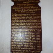 Gedenktafel der Gefallenen 1914 - 1918