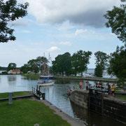 in Sjötorp am Göta-Kanal ...