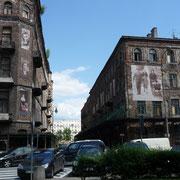 Häuser des Ghettos in Warschau