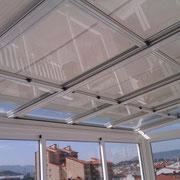 Toldos para techos acristalados motorizados