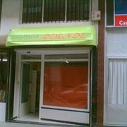 Toldos capotas comercios Pamplona