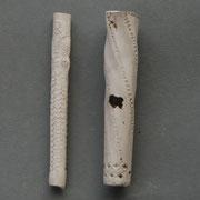 Een vrij dik steelfragment rechts, ca 2x zo dik als de reeds vrij dikke Jonas steel ernaast.