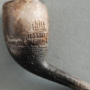 Afbeelding van Paardentram op beide zijden, op steel de tekst TRAMWAY