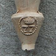 Het merk 77 is tot 1849 in Gouda in gebruik geweest bij (de weduwe van) Jacobus Hageman (1829-1849) (ref *14)