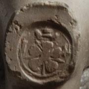 5 Bladige Roos met initialen I en N