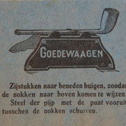 Instructie vel voor etalage/toonbank display 1927