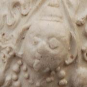 Detail engelen kopje