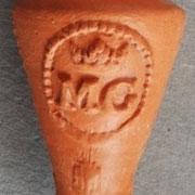 Het merk MG is in Gouda in gebruik geweest tussen ca 1669 en 1872.