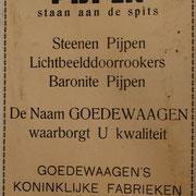 Kleine 2 pagina prijscourant 1932