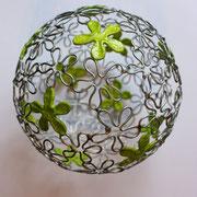 fil de fer, papier, soudure - 14 cm de diamètre (atelier)