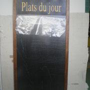 cadre tableau noir pour restaurant 95x45