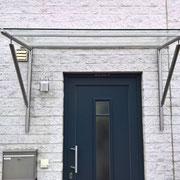 Vordach - Edelstahl und Glas