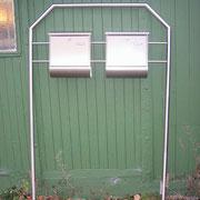 Edelstahl-Doppel Briefkasten