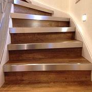 Edelstahl-Kantenschutz für Treppenstufen