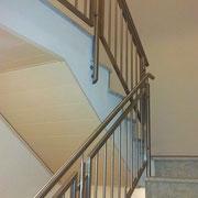 Edelstahl-Treppengeländer innen