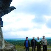 Пивоваров, Болоцков, Бгданов, Аксёнов. Близ ст. Вёшенской 2010 год. Фото elan-kazak.org