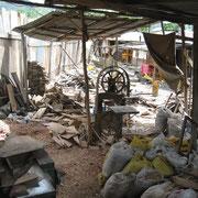 Atelier de menuisier en bordure de route en Équateur