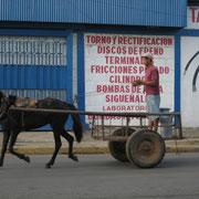 Chariot un chevau vapeur au Honduras