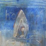 home 2012;  Gouache auf Leinwand;  60x70 cm