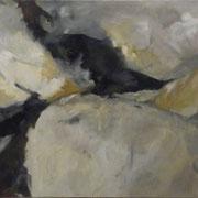 aufgewühlt  2012; Gouache auf Leinwand; 100x80 cm