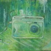 away 2012;  Gouache auf Leinwand; 50x60 cm