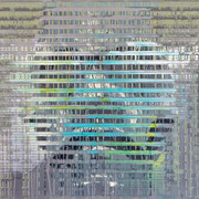 """Blue-Green-Portrait"" ca. 120cm x 100cm"