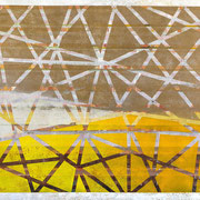 """Chrystals in Gold-Yellow-Composition"" ca. 150cm x 100cm"