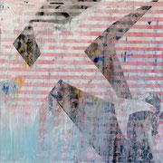 """Bird in Blue-Red-Composition"" ca. 120cm x 100cm"