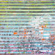 """Green-Light-Silver-Composition"" ca. 100cm x 80cm"