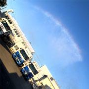 洗車機で虹を作る