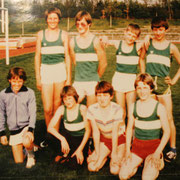 LG Schülergruppe 1983: Hinten vl Chris-tian Wehowsky, Jürgen Link, Christian Eberhardt, Thomas Gaipl. Vorne vl Christian Steiner, Karlo Krebs, Reinhard Kitzinger, Thomas Turnhuber.